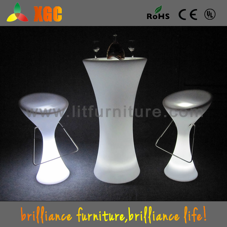 China lighted cocktail table led lighting up table for Cocktail tables led