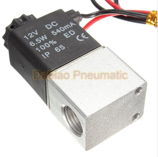 "Normally Closed Solenoid Valve 2V025-06 12V DC 1/8"" Wire High quality for Water Air Gas"