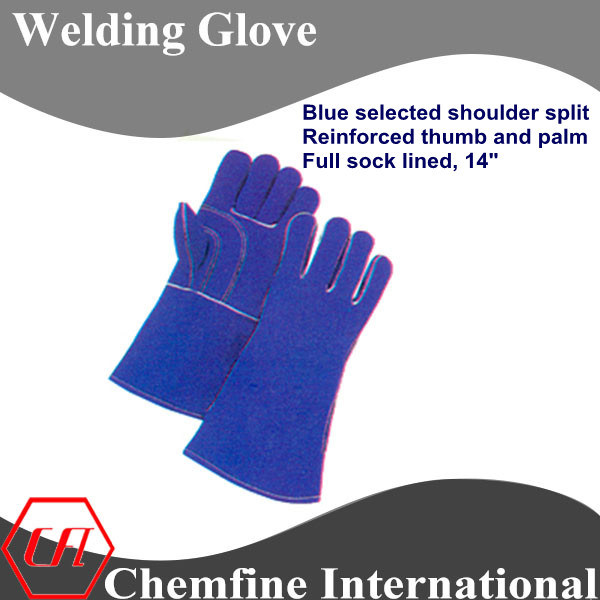 Blue Select Shoulder Split, Reinforced Thumb and Palm, Full Sock Lined Leather Welding Glove