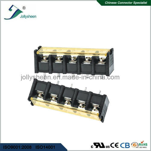 5pin pH10.0mm Barrier Terminal Blocks Straight Type with Clear PC Safety Cover