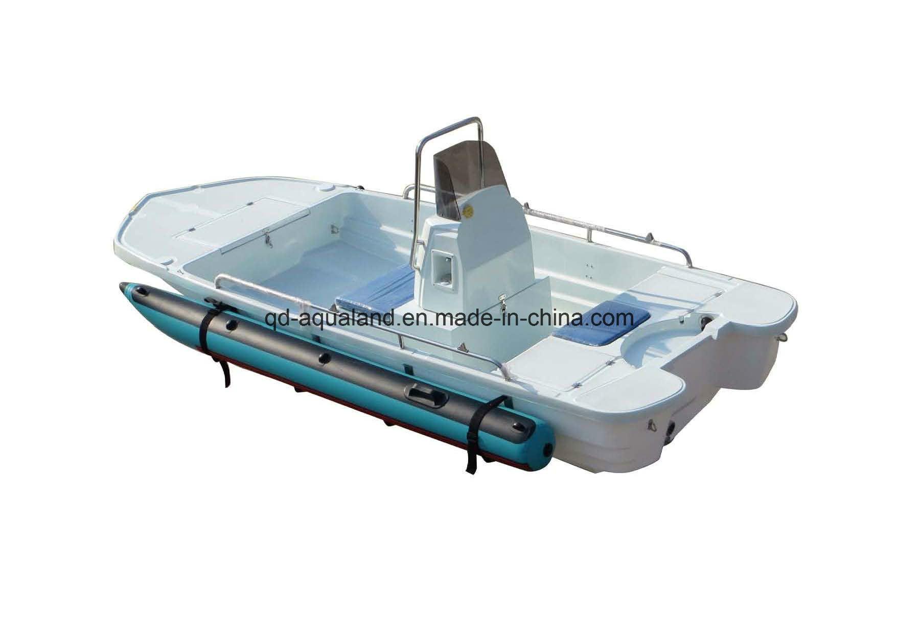 China aqualand 13feet 4m fiberglass speed boat fishing for Portable fishing boat