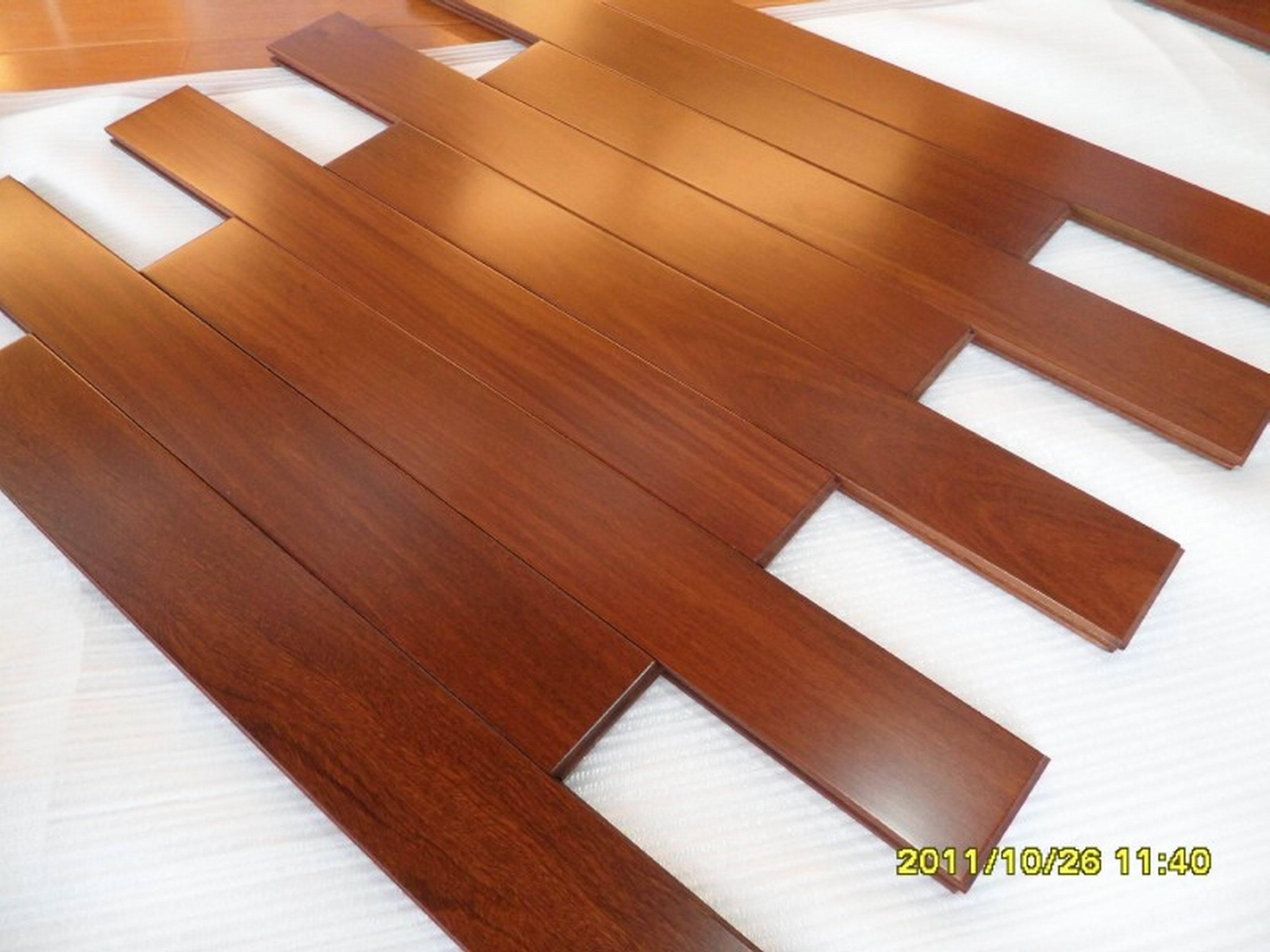 Guangzhou Factory Cheap Natural Cumaru Real Wood Flooring