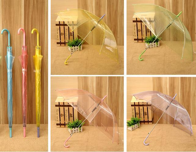 Wholesale Color Transparent Umbrella Advertising Umbrella Straight Umbrella Long Umbrella