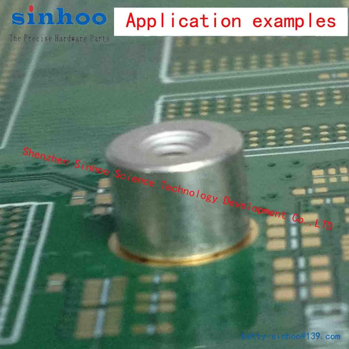 SMT Nut, Weld Nut, Smtso-M2.5-4et, Reel Package, Solder Nut, Standoff, Brass, Tape