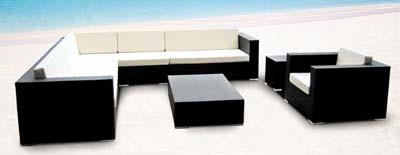 Outdoor Furniture Cube Set PE Rattan Sofa for Garden Patio Furniture