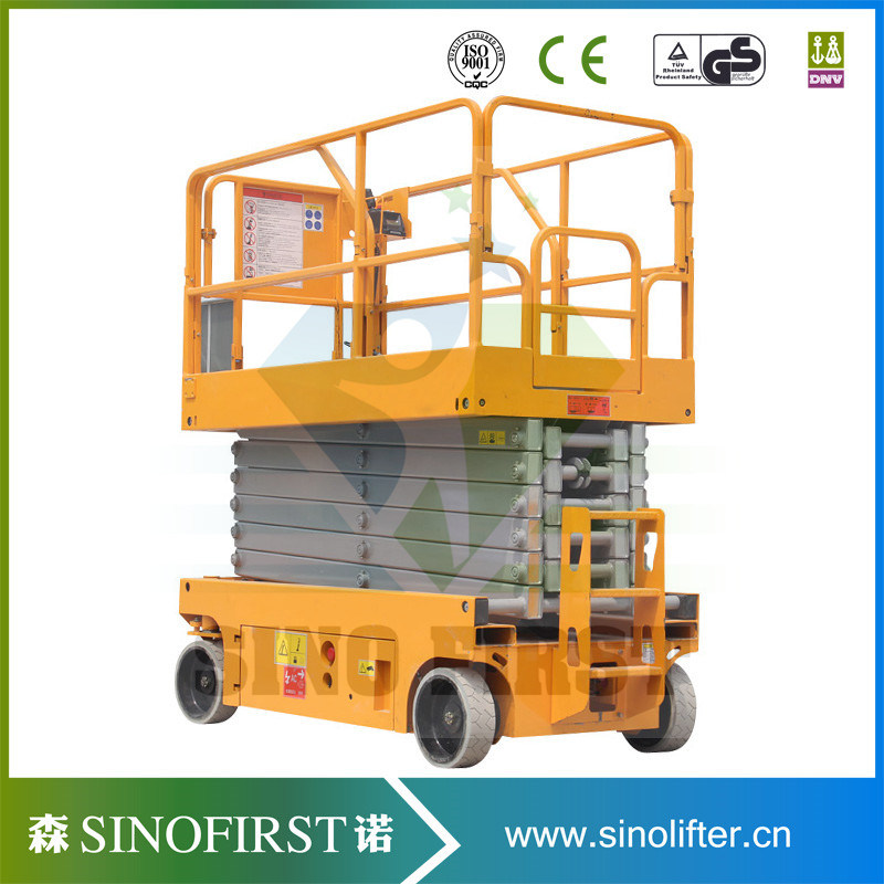High Quliaty 6m to 12m Self Driven Scissor Lift Platform Working Platform
