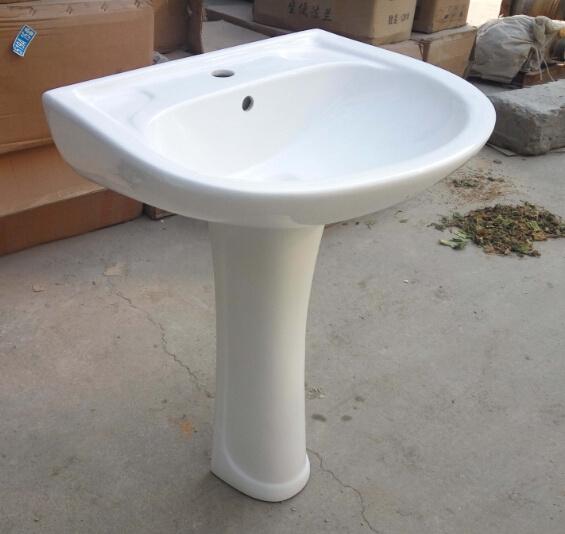 Ceramic Pedestal Basin 101# with Saso/Ce