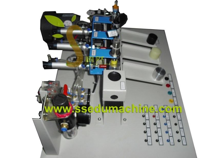 Mechatronics Trainer Sorting Training Equipment PLC Teaching Model