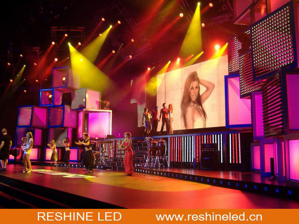 High Quality Reshine 4.8 Indoor Rental LED Display Screen