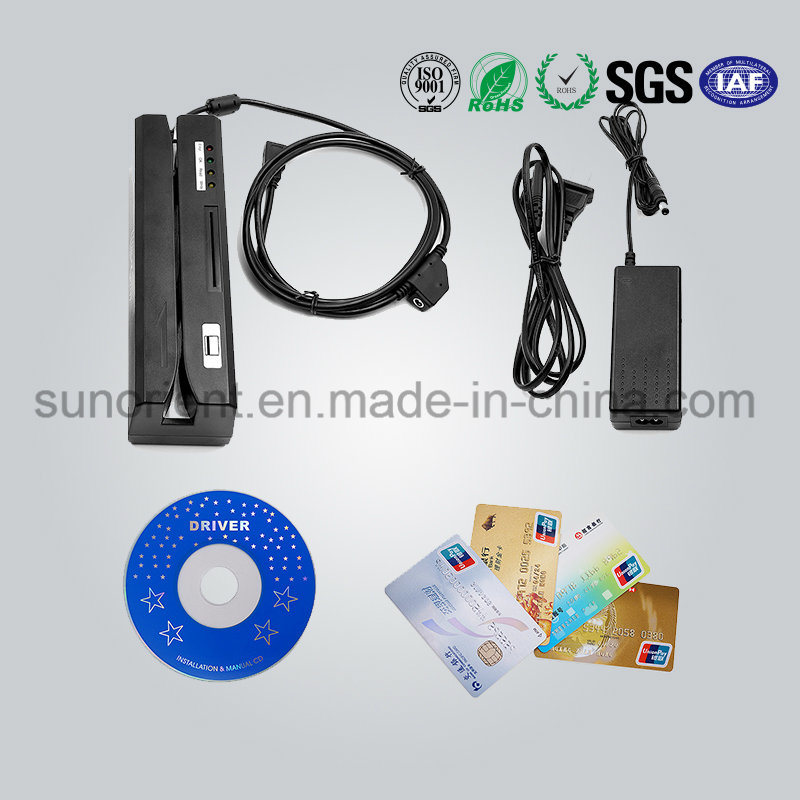 Efficient Track 1/2/3 Magnetic Strip Card Reader/Encoder