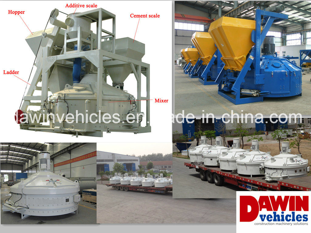 Dawin Ce Proven Counter Current Planetary Mixers Host for Batching Plant 500L 1000L 1500L 2000L