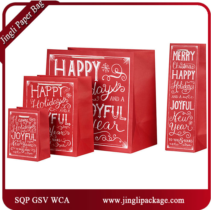 2017 Latest Design Paper Printed Carrier Gift Bags with Wca Audit