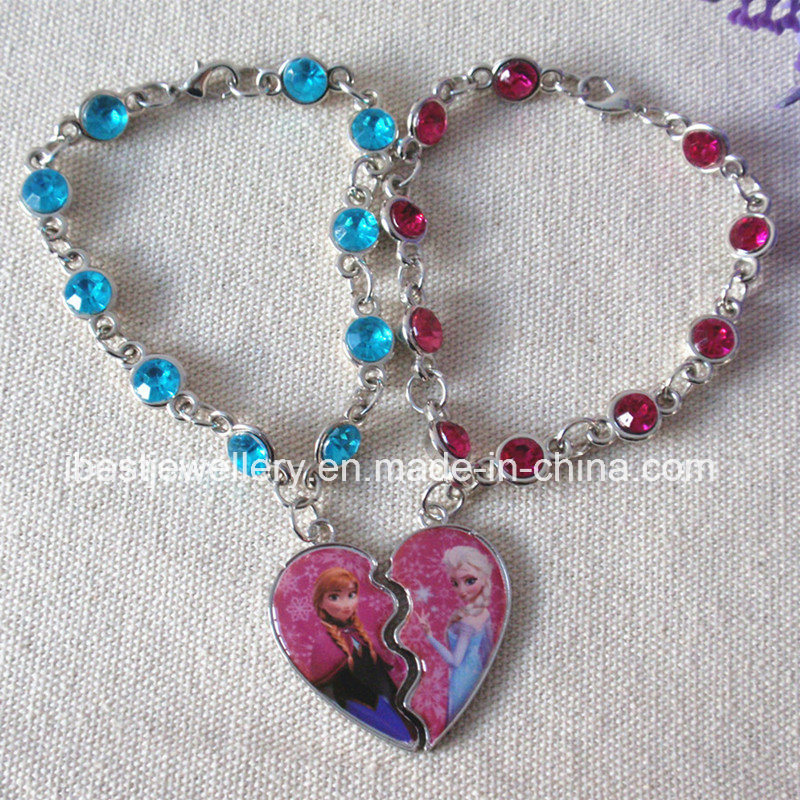 Disney Fashion Jewelry for Children-Frozen Acrylic Stone Bracelet /Anna Bracelet /Elsa Bracelet (B005)