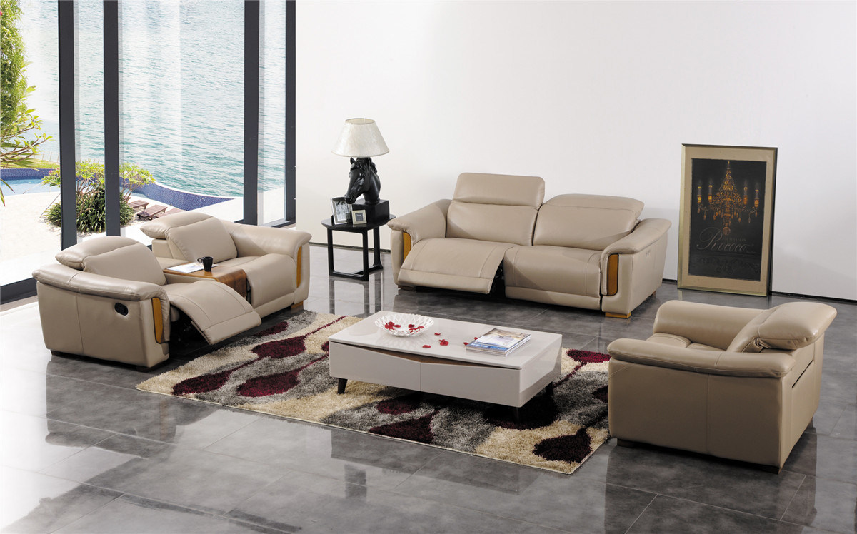 China Modern Living Room Furniture Leather Sofa Set Photos Pictures M