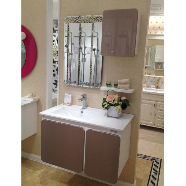 home builder high gloss shinning lacquer bathroom cabinets