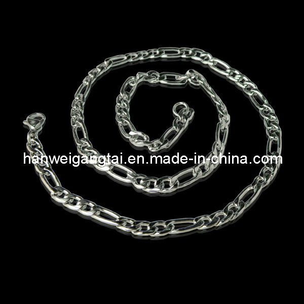 316L Stainless Steel Figaro Chain, Heavy Steel Chain for Men