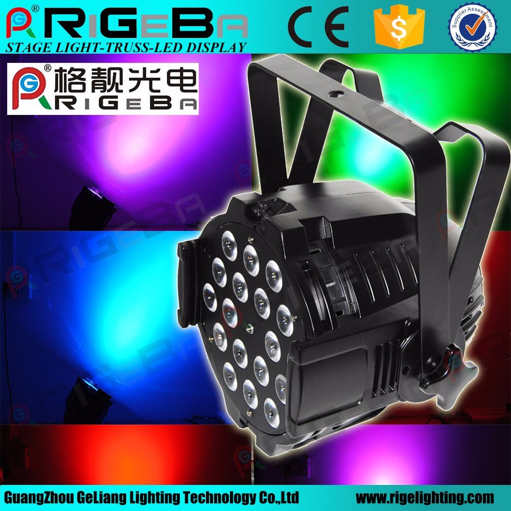 Stage Disco Bar DJ PAR 64 18LEDs 10W RGBW 4in1 DMX Control LED PAR Can Light