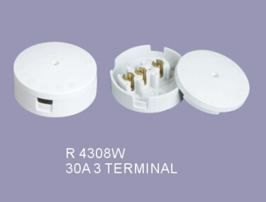 Good Price 30A 3 Terminal Junction Box Ceiling Rose