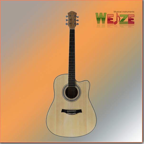 Hot Sale Spruce Catalpa Plywood Acoustic Guitar