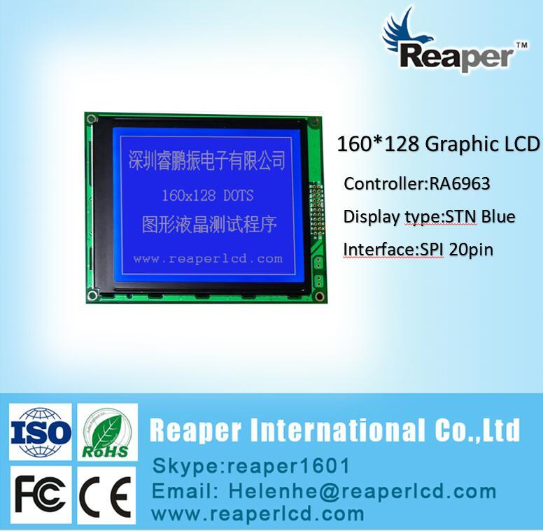 COB 160X128 Graphic LCD Module for Industrial. Medical. Equipment.