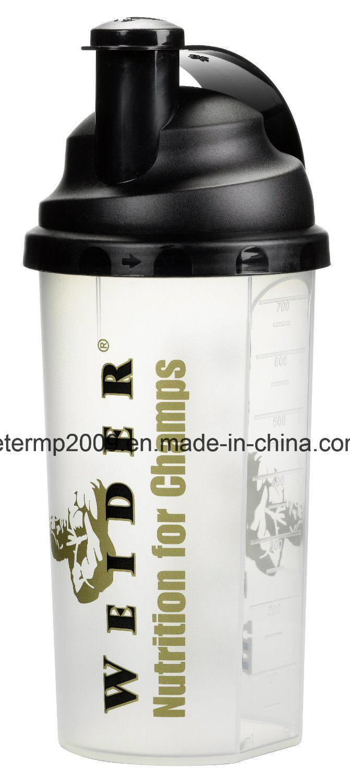 Free Sample 700ml Wholesale Custom Plastic Shaker Bottle