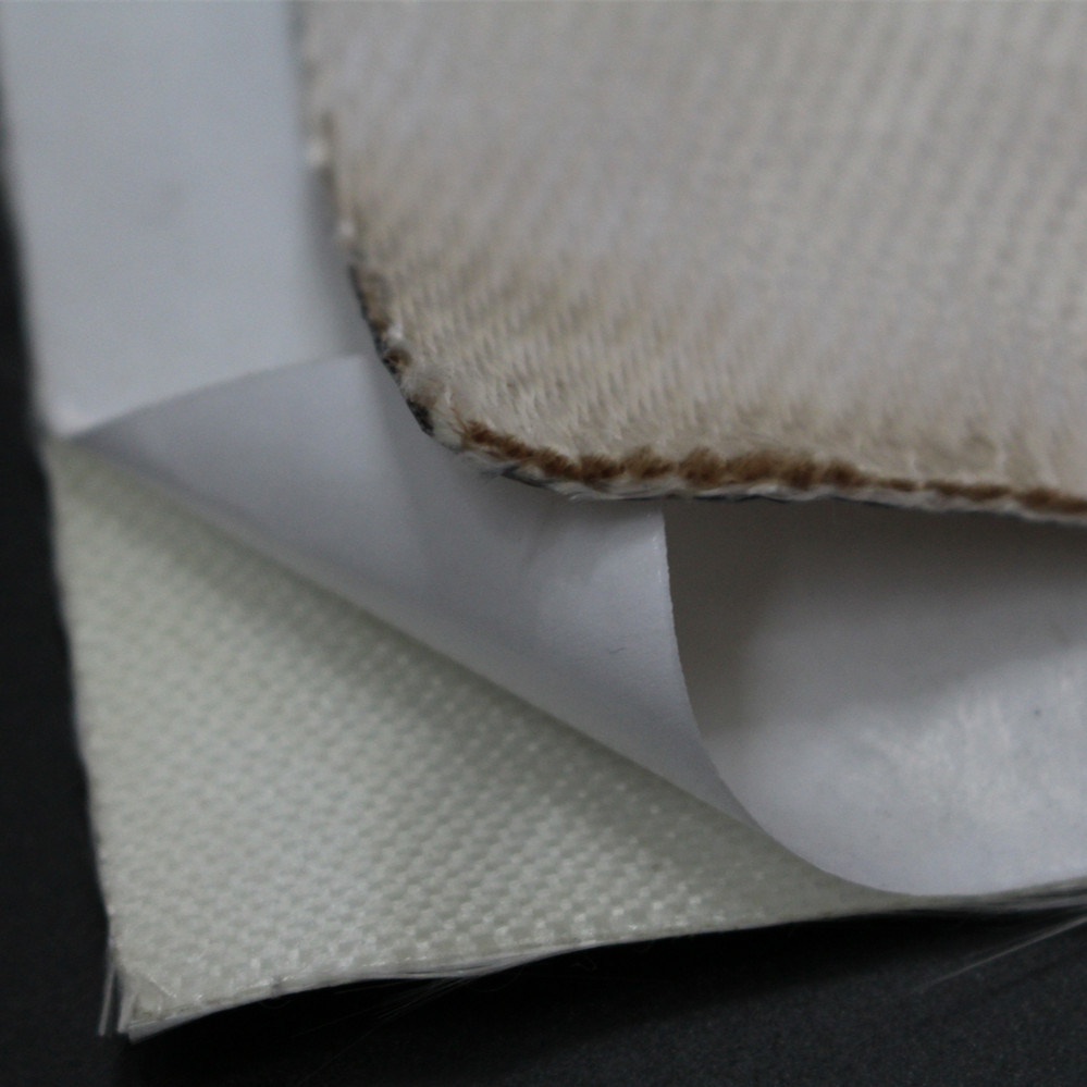 Woven Silica Textile Blanket with Pressure-Sensitive Adhesive