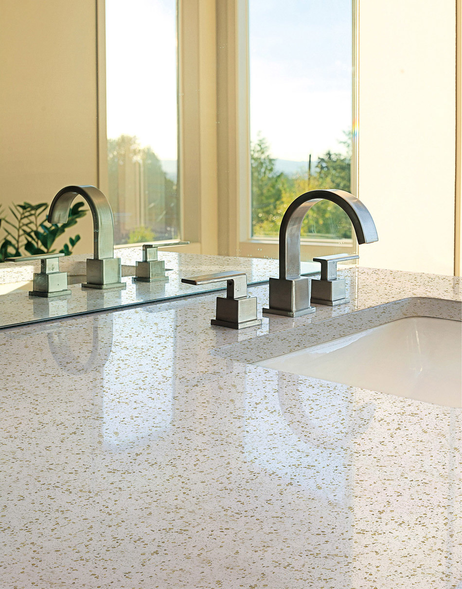 Grey Color Quartz Stone for Kitchen Top and Counter Top