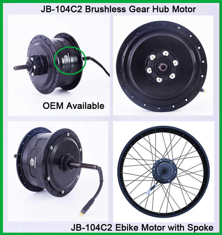 Jb-104c2 Fat Tyre 48V 750W Electric Bike Rear Hub Motor Conversion Kit