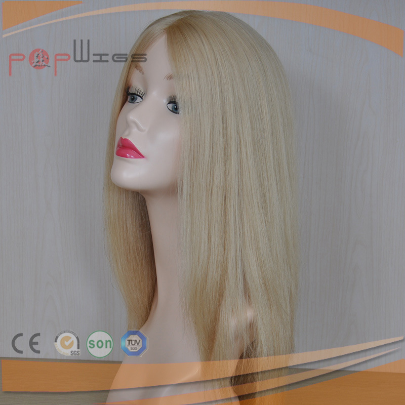 High End Best Selling Human Hair Straight Silk Top Women Jewish Wig