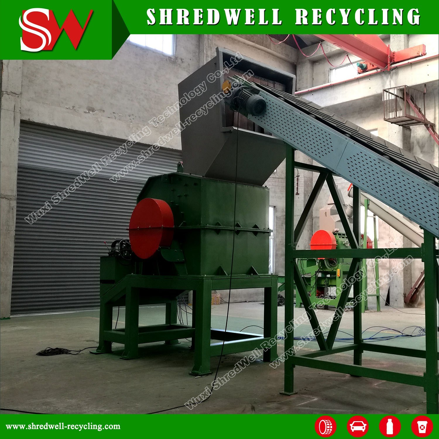 Scrap Metal Crusher for Waste Metal Drum and Steel Sheet etc