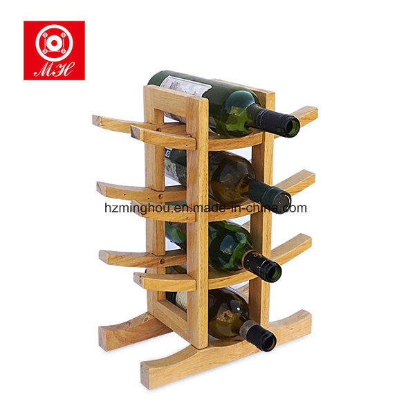 12 Bottle Bamboo Wine Rack Red Wine Display Rack Wine Storage Shelf