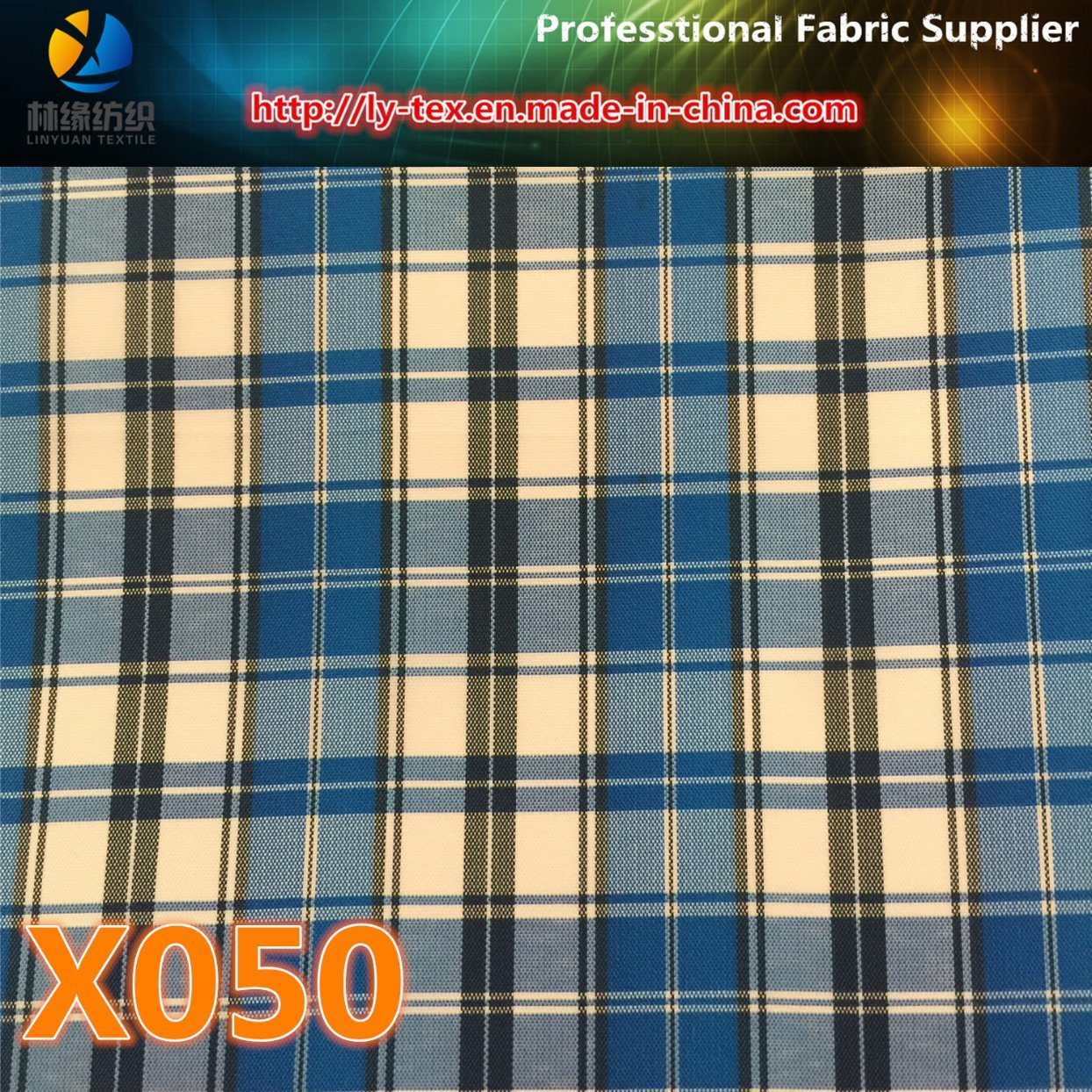 Prompt Goods. Polyeter Lining Check Fabric (X048-50)