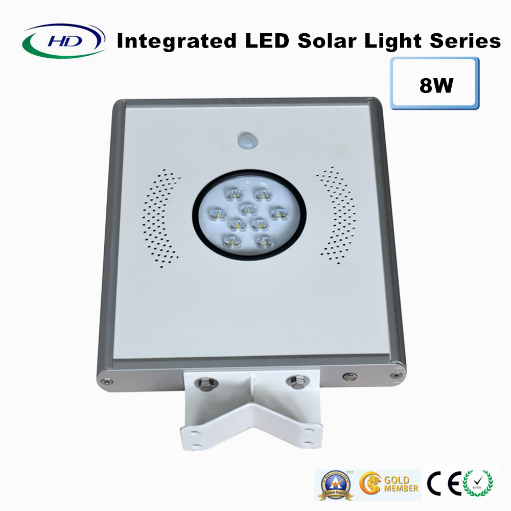 8W PIR Sensor Integrated LED Solar Garden Light