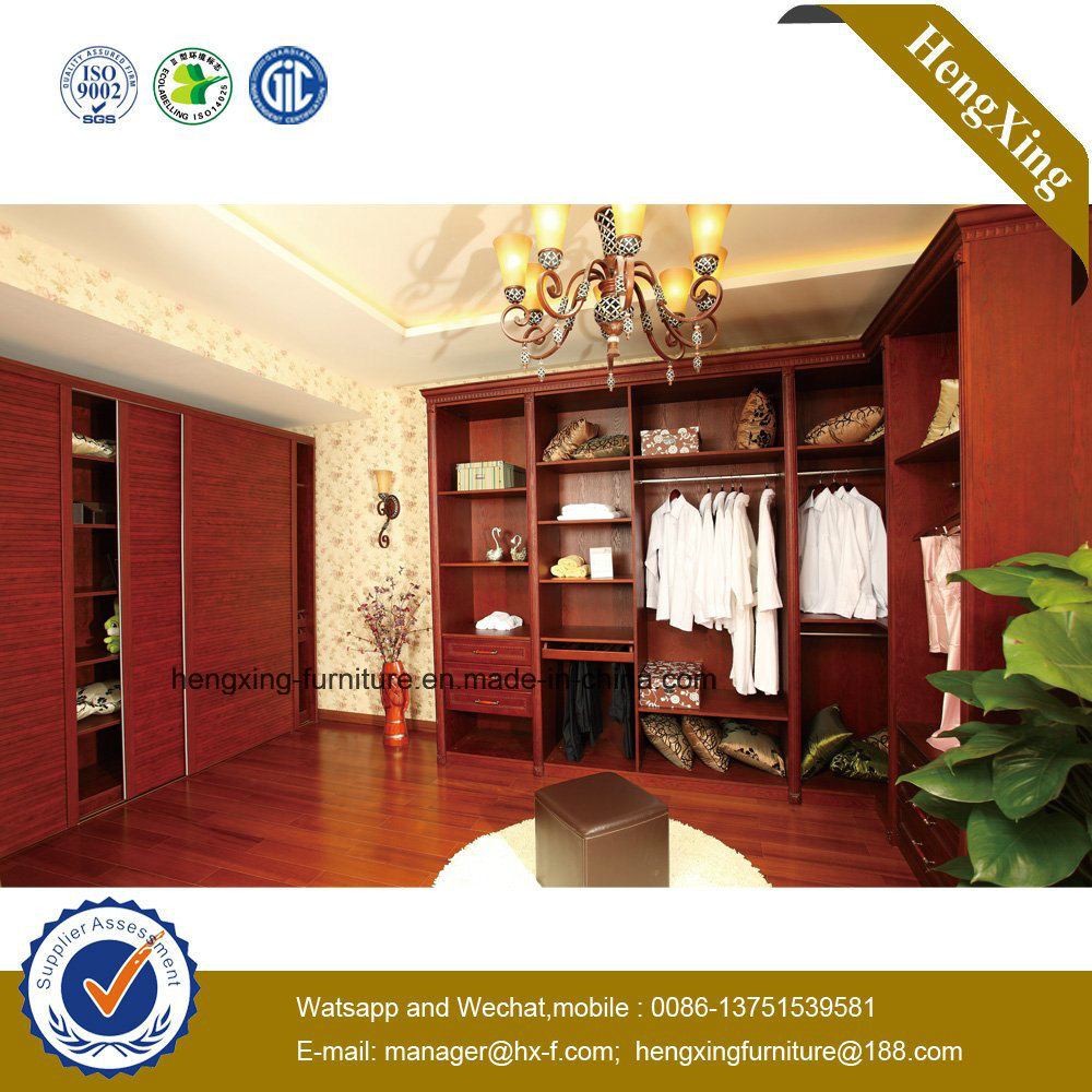 High Quality Wooden Storage Closets Wardrobe (HX-LC2208)