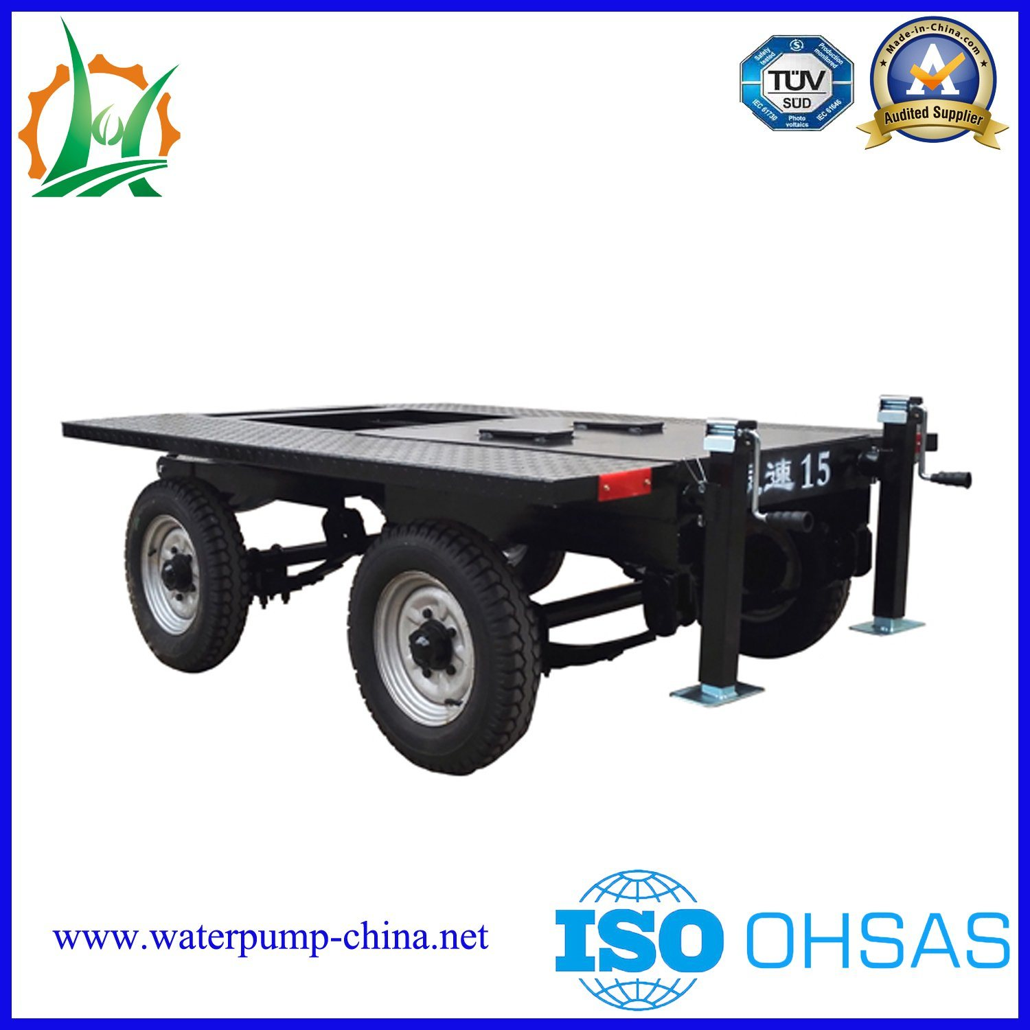 Mobile Big Flow of Diesel Dewatering Mixed-Flow Trailer Pump Sets