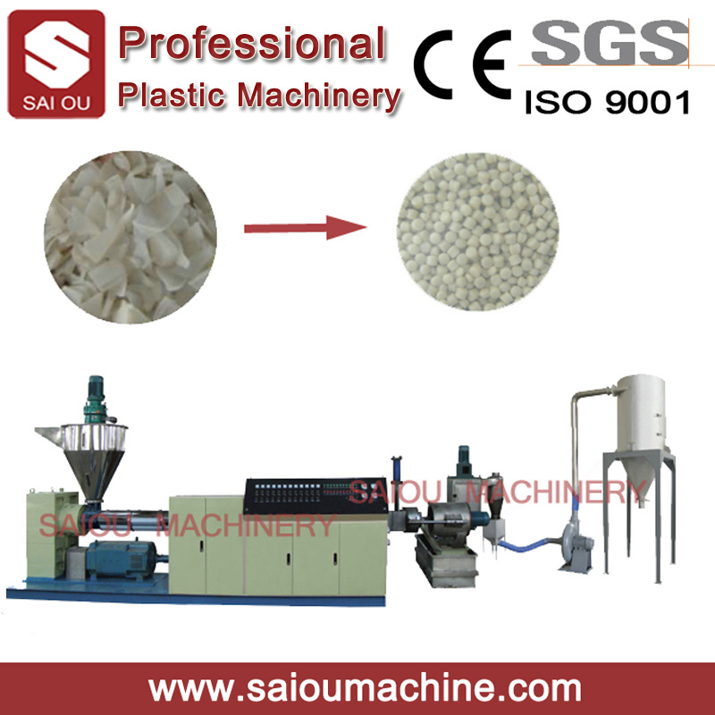 Plastic Film Single Screw Recycling Granulating Extrusion Machine Plastic Extruder
