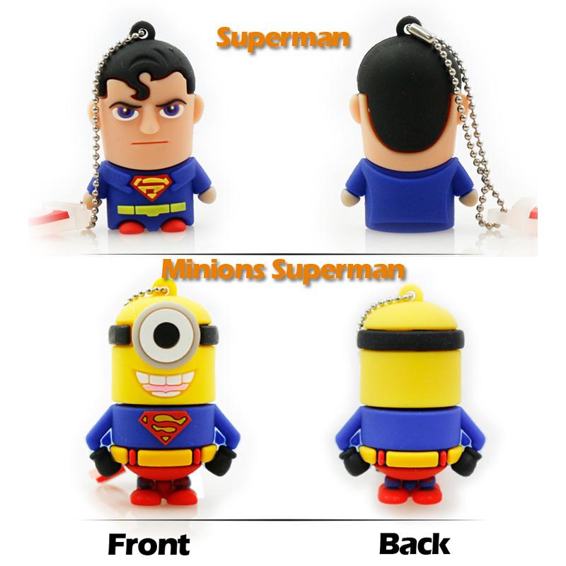 Full Capacity Super Hero Minions USB Flash Drive Memory Stick