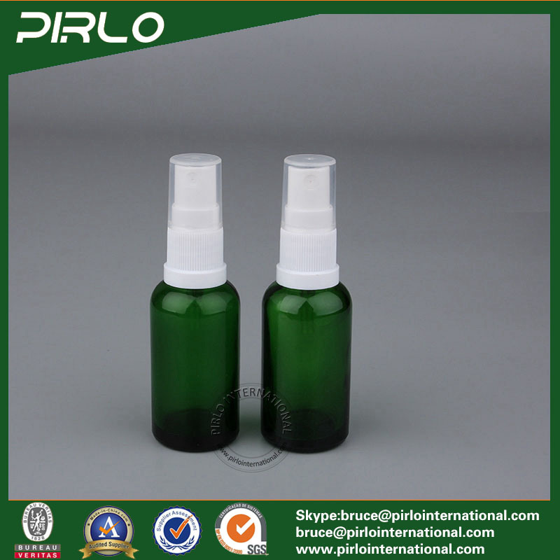 15ml 0.5oz Green Cosmetic Spray Bottle Glass Essential Oil Use Glass Bottle Perfume Refillable Bottle with Fine Mist Sprayer