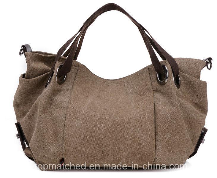 Women Canvas Handbag Shoulder Mummy Canvas Tote Lady Hand Bag