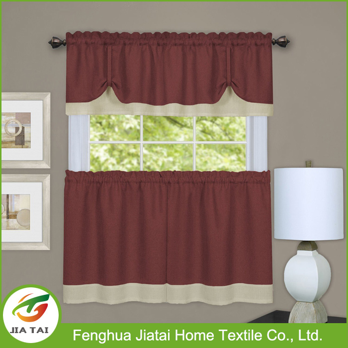 New Nesign Best Washable Polyester Mini Kitchen Curtain