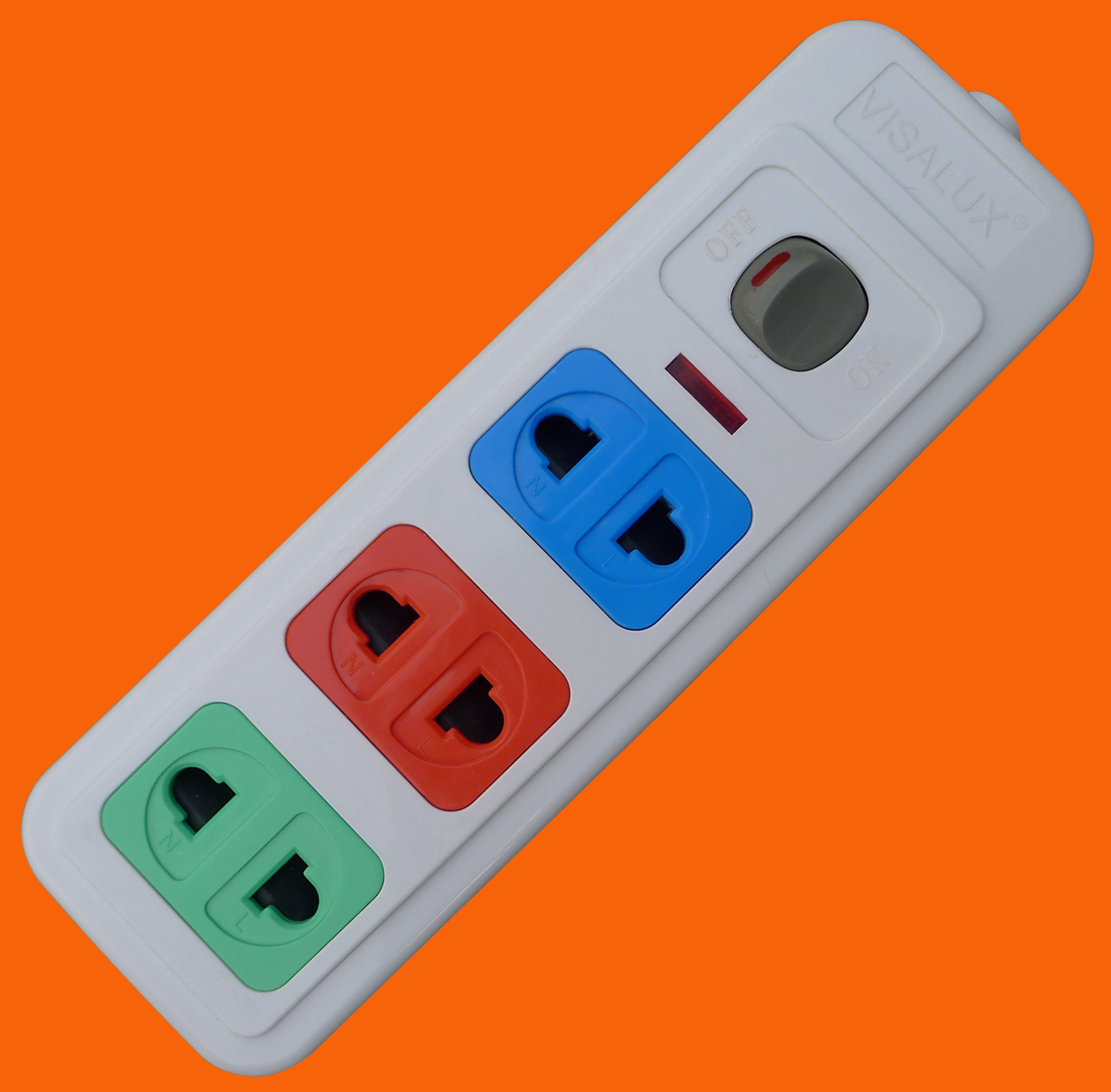 Power Strip Universal 2 Pin 3 Way Outlet Extension Socket (E1003)