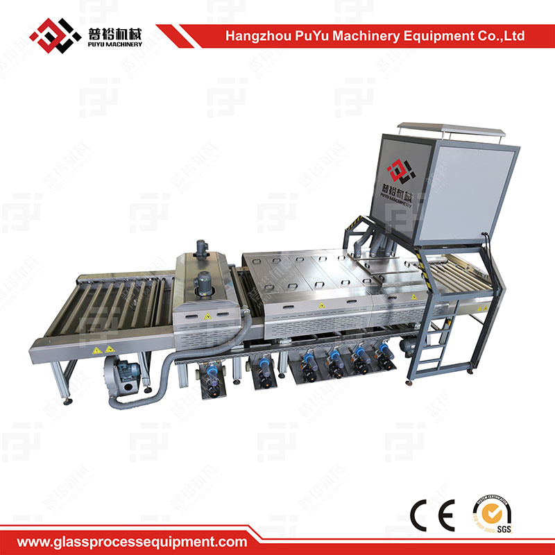Horizontal Glass Washing and Drying Machine Before Coating or Printing