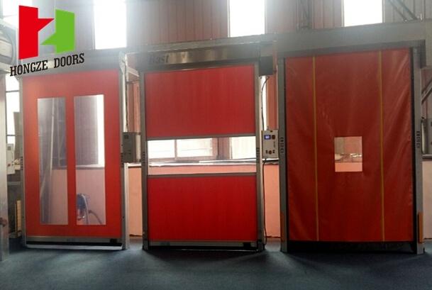 Self Repair Mechanical High Speed Rapid Rolling Door (Hz-FC0124)