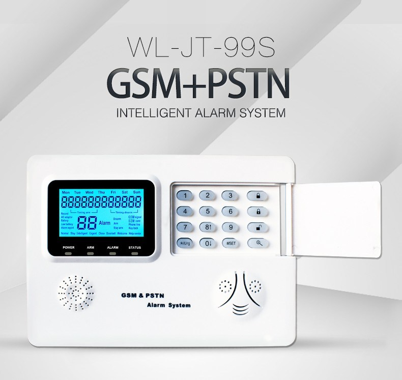 LCD 99 Wireless Zones Remote Control GSM PSTN Alarm System