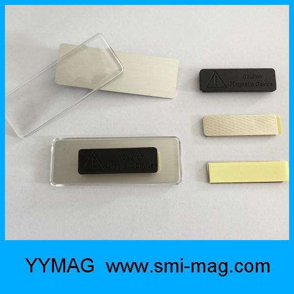 High Quality Neodymium Acrylic Badge Holder Magnet Name Tag