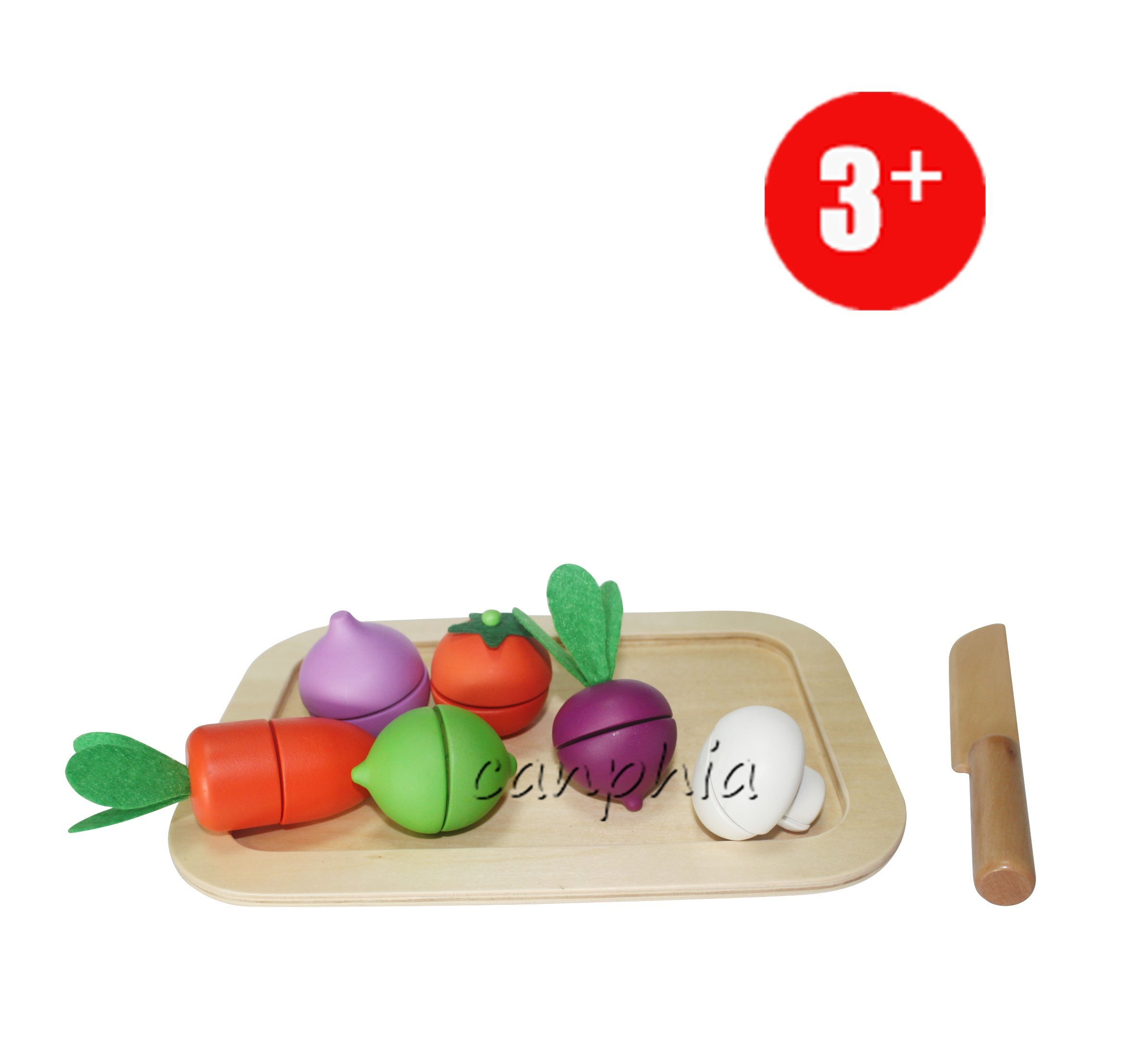 Wooden Cutting Toy Food, Role Play Toy Food for Children, Happy Playfully Cutting Wood Food Toy Ca04019