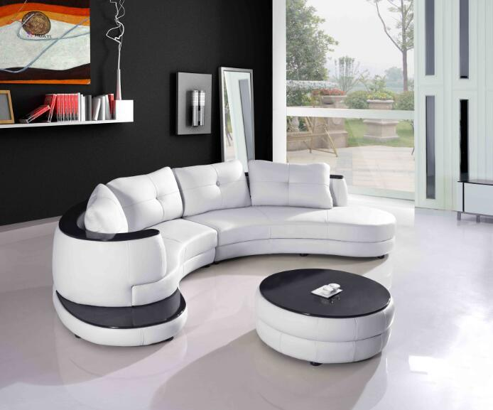 Modern Living Room Furniture Leather Sofa with Sectional Sofa Included coffee Table
