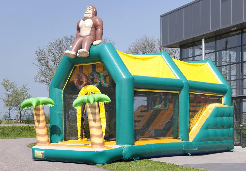 Big Jungle Kingkong Inflatable Playground Slide for Sale