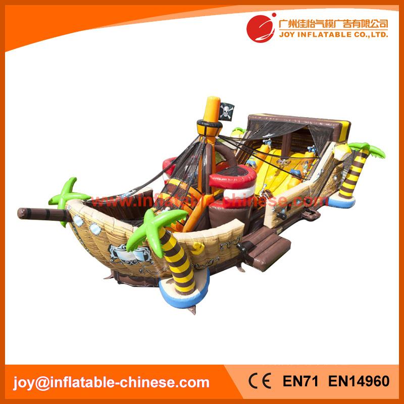 2017 Popular Mega Ballcanon Gaint Inflatable Pirate Boat (T6-611)