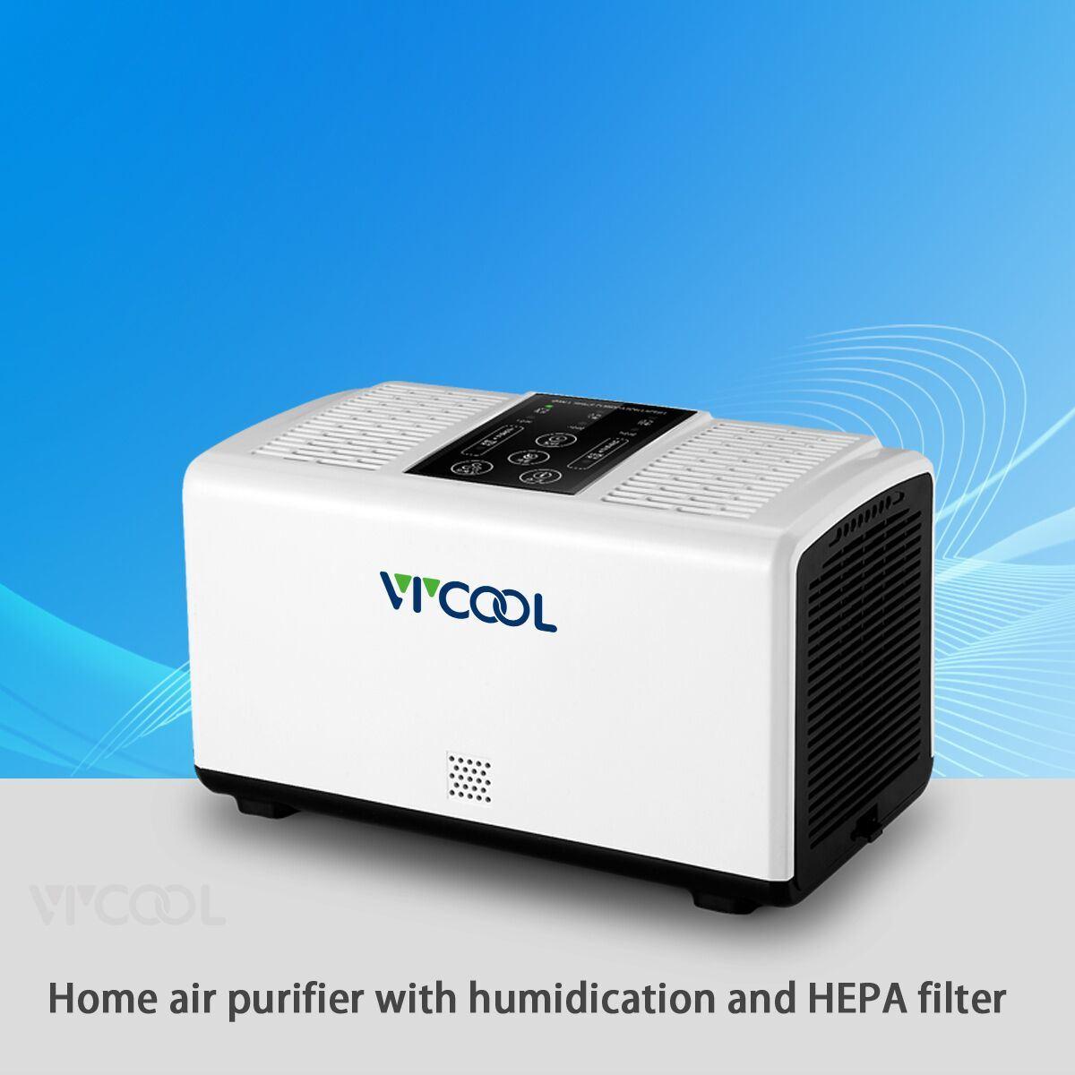 Double Fan Desktop Air Purifier with HEPA